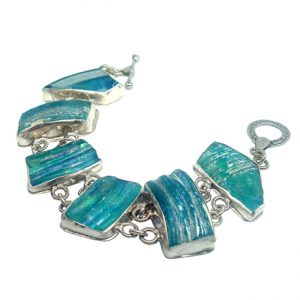 Handmade Roman Glass Jewelry 925 Sterling silver Bracelet