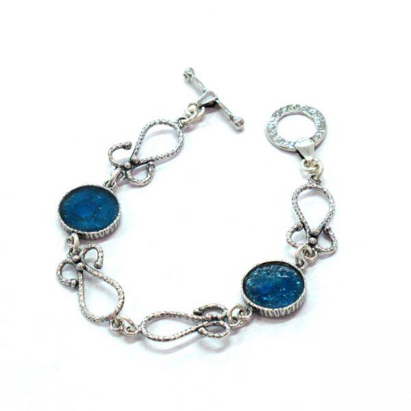 Roman Glass Jewelry Designer Bracelet