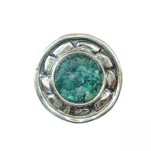 Roman Glass Jewelry Sterling Silver Designer Brooches
