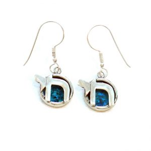 Roman Glass Jewelry Sterling Silver Chai Designer Earrings