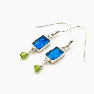 Roman Glass Jewelry Sterling Silver Designer Earrings