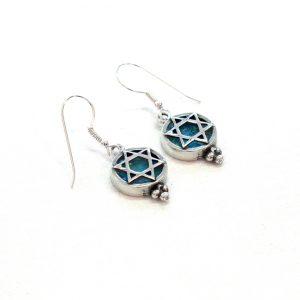 Earrings Roman Glass Jewelry Judaica Magen David
