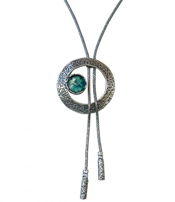 Handmade Roman Glass Jewelry Sterling silver Heart Necklace