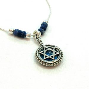 Handmade Roman Glass Jewelry Sterling silver Star of David Necklace