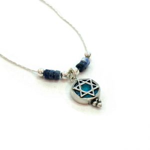 Necklace Roman Glass Jewelry Judaica Magen David