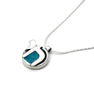 Handmade Roman Glass Jewelry Sterling silver Chai Pendant