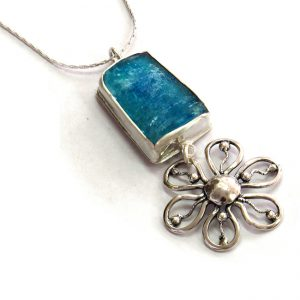 Roman Glass Jewelry Sterling Silver Designer Pendant