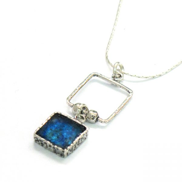Roman Glass Jewelry Sterling Silver Designer Pendantv