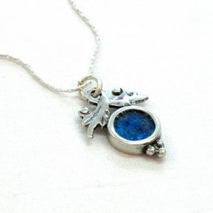 Roman Glass Jewelry Sterling Silver Designer PendantV