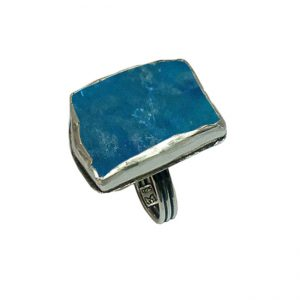 Roman Glass Jewelry Sterling Silver Handmade One of a Kind Designer Ring