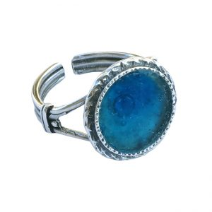 Roman Glass Jewelry Sterling Silver Designer Ring