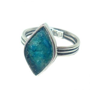 Roman Glass Jewelry Sterling Silver Designer RingRoman Glass Jewelry Sterling Silver Designer Ring