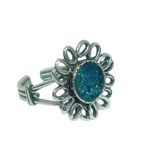 Roman Glass Jewelry Sterling Silver Designer RingRoman Glass Jewelry Sterling Silver Designer Ring