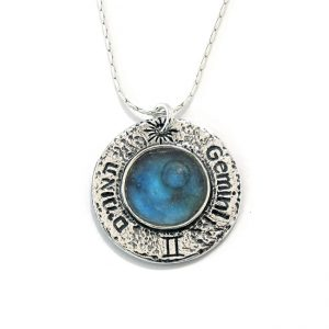 Handmade Roman Glass Jewelry 925 Sterling silver Zodiac