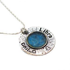 Roman Glass Jewelry Sterling Silver Designer Zodiac Pendant