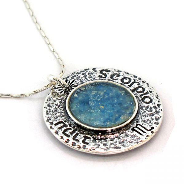Handmade Roman Glass Jewelry 925 Sterling silver Zodiac