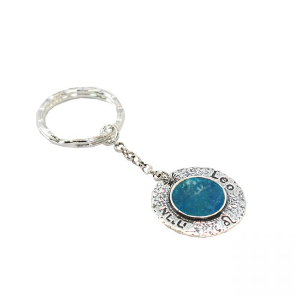 Roman Glass Jewelry Sterling Silver Designer Zodiac Key Ring