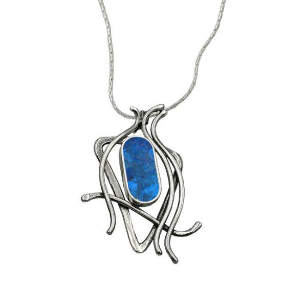 Handmade Roman Glass Jewelry 925 Sterling silver Star of David Cross Earrings