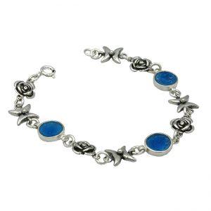 Handmade Roman Glass Jewelry 925 Sterling silver Bracelet
